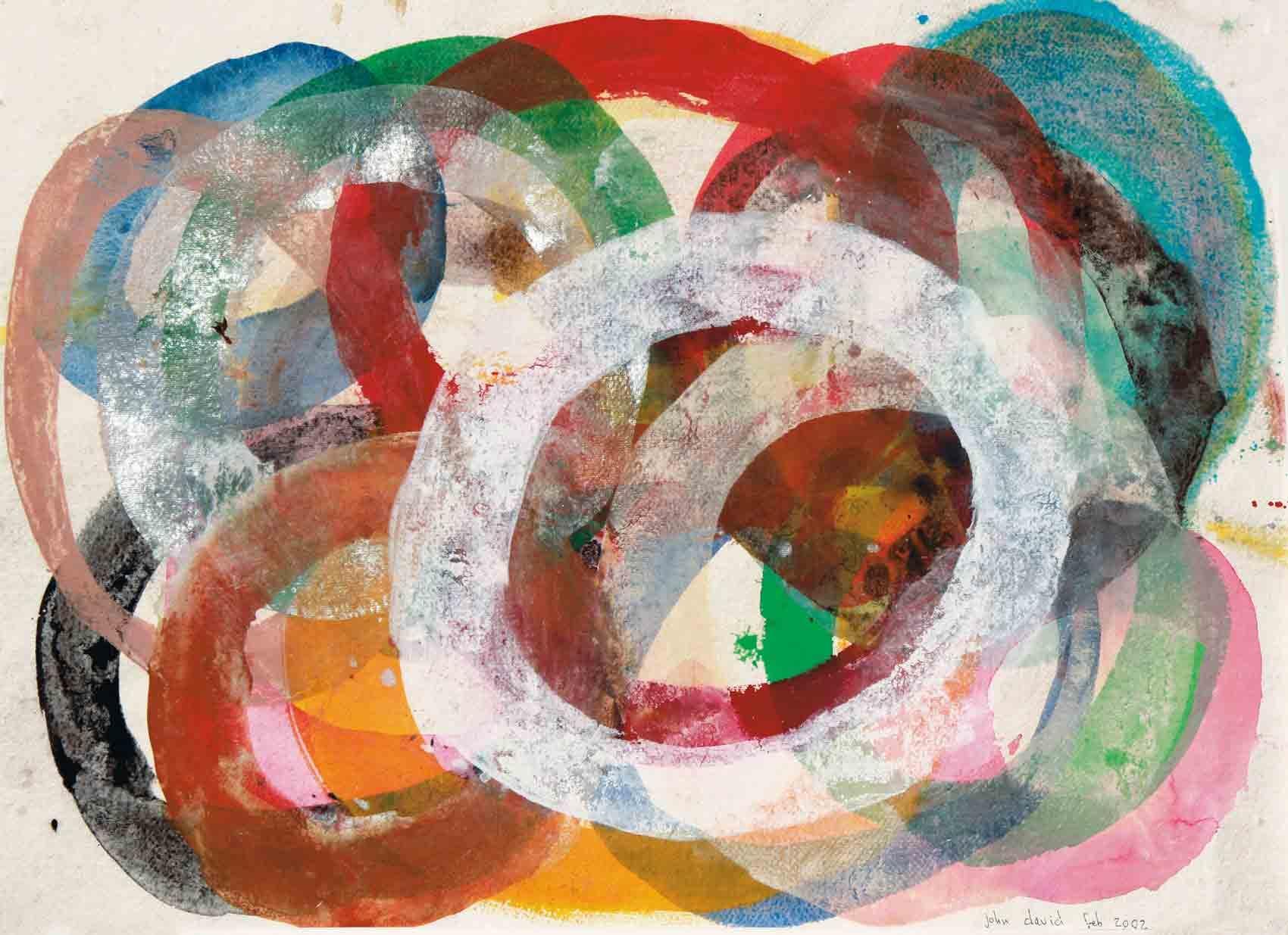 John David´s Gemälde Circles of Joy, Kunst