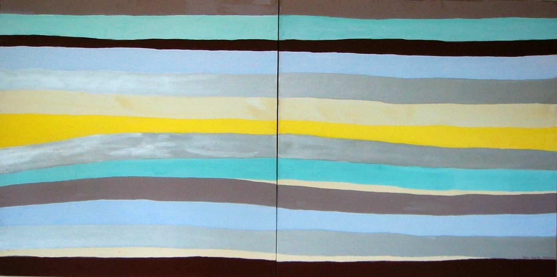 John David´s Gemälde ohne Titel striche, Kunst