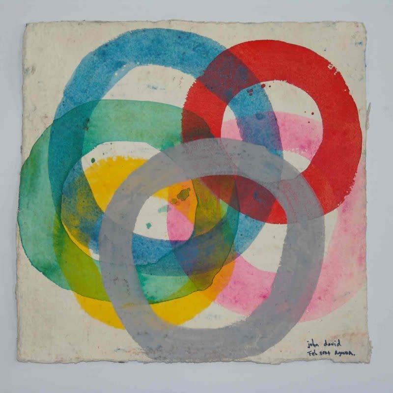 John David´s Gemälde ohne Titel kreisel, Kunst