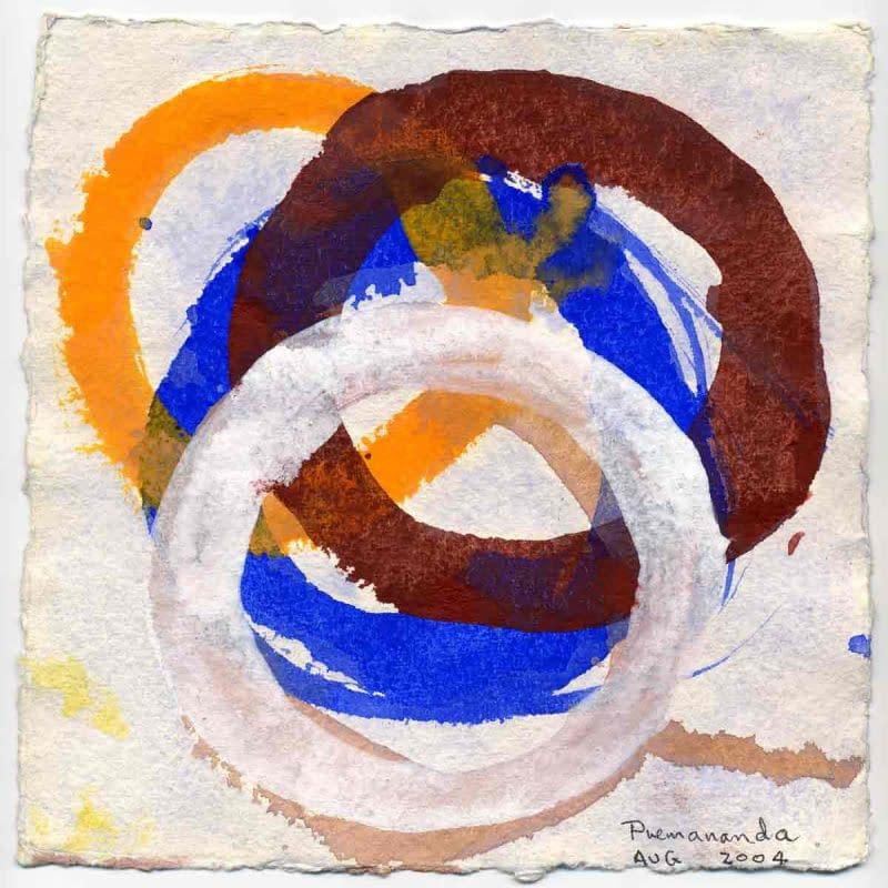 John David´s Gemälde Squ White Circles, Kunst
